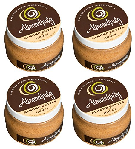 Almondipity Almond Butter with Honey 16 oz - 4 Pack by Almondipity