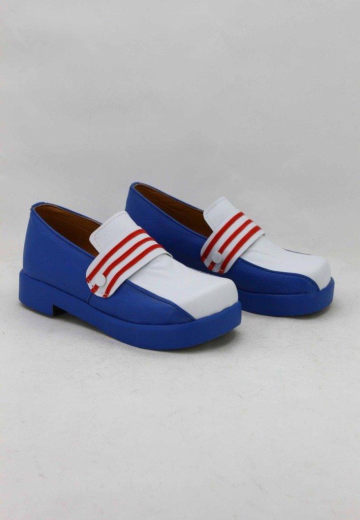 SAKURA KINOMOTO Cosplay Shoes Boots Custom Made white/&blue