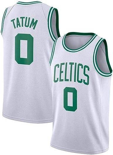 YUNAN Camiseta de baloncesto Boston Celtics #0 Jayson Tatum New Season Swingman Uniforme, Dri-fit sin mangas, camiseta para entrenamiento y uso casual