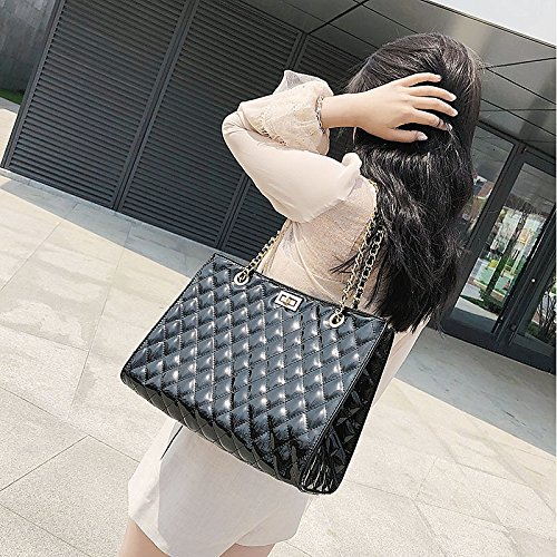 Handbags White Cross à Capacity Classic Bag Zipper Women'S main Large sac Bags Pu QZTG Shoulder Noir Body Tote Blacktote fqzxZpwWa