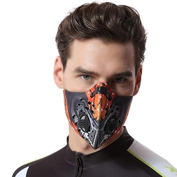 Mioloe Máscara a Prueba de Polvo Activado Filtración de Carbono Entrenamiento Máscara de Medio Rostro Filtro