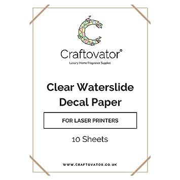 , 10 unidades de papel para láser de agua Slide A4 hojas: Amazon.es: Hogar
