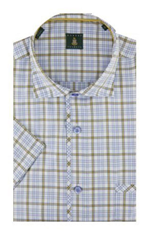 Robert Talbott White and Yellow Check The San Carlos Short Sleeve Shirt M