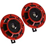 Electric Car Horn 12V Universal Vehicle Horn High Tone and Low Tone Metal Twin Horn Kit with Bracket - Add Safety to…