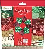 Avenue Mandarine origami Paper, 20 x 20 cm, (Christmas Themed) - Multi-Colou
