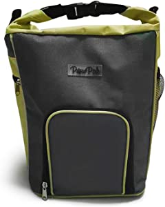 PawPak Dog Food Travel Bag | Pet Food Storage Container with Pouring Spout and Shoulder Strap | Portable Dog Travel Accessories | Water-Resistant Kibble Carrier with Dispenser