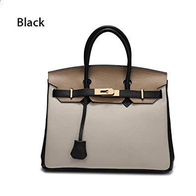 3790d0198e56 Handbags Lock Genuine Leather Bags Litchi Pattern Soft Shoulder Bags ...
