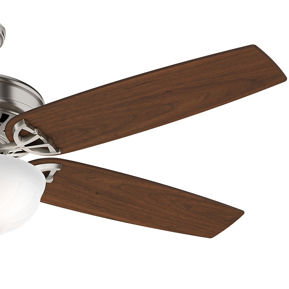 Casablanca 54023 Concentra Gallery 54-Inch 5-Blade Single Light Ceiling Fan, Brushed Nickel with Walnut/Burnt Walnut Blades and Cased White Glass Bowl Light by Casablanca (Image #6)