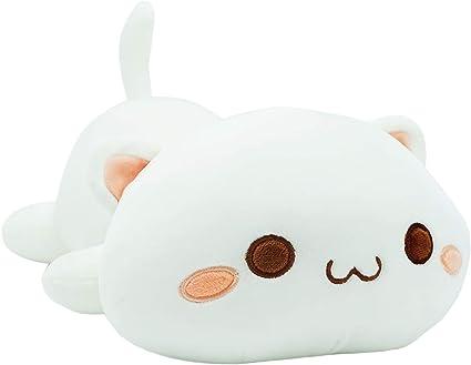 Giant Shark Plush, Amazon Com Cute Kitten Plush Toy Stuffed Animal Pet Kitty Soft Anime Cat Plush Pillow For Kids White A 12 Toys Games
