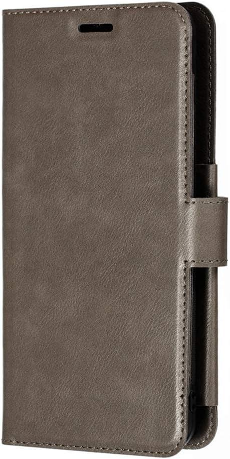 Funda para Samsung Galaxy S20 Ultra Funda Libro, Cartera Estuche Antigolpes Golpes de Cuero con Libro de Cuero Flip Case, Carcasa PU Leather con TPU Silicona Case Interna Suave Cierre Magnético gris: