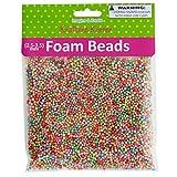 Multi-Colored Foam Craft Beads - 20/Pack (2 Pack)