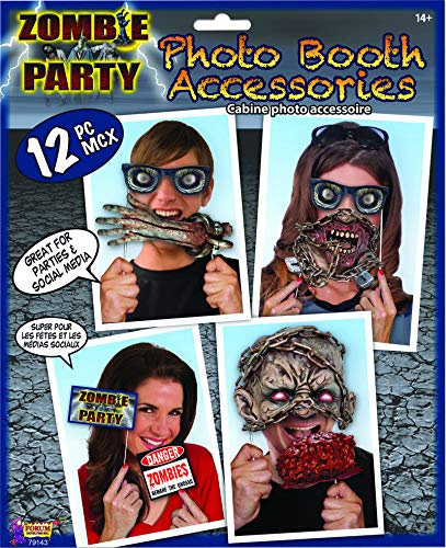 Zombie Theme Photo Booth Accessories 12 Props Halloween Pictures Selfie Fun for $<!--$4.99-->