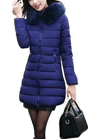 Manteau femme bleu avec capuche