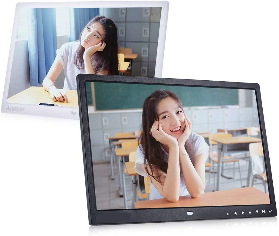 RONSHIN Top 15 inch Digital Picture Photo Frame 1280x800 HD Resolution 16:9 Wide Picture Screen Clear and Distinct Display Black US Plug