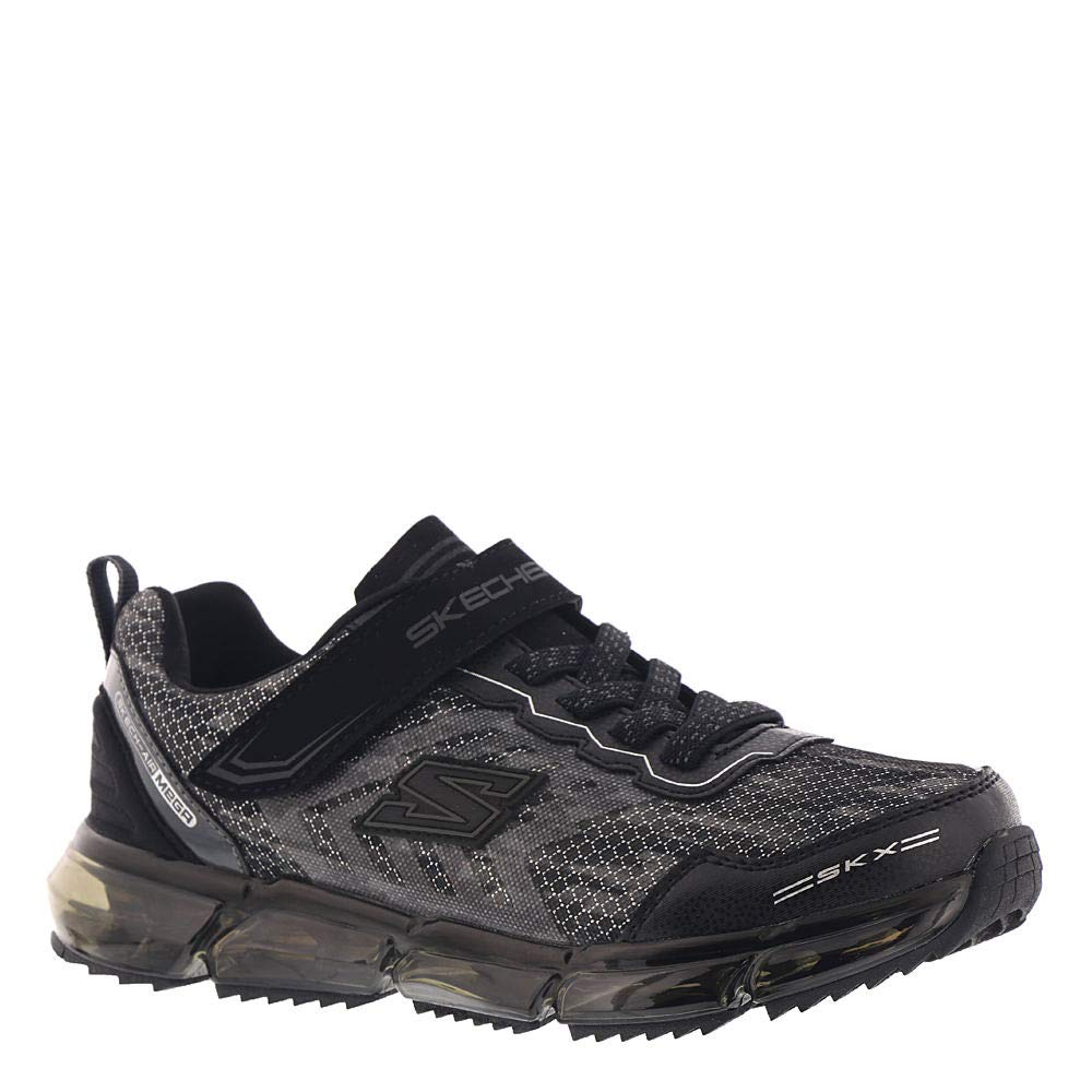 Skechers Skech Air-Mega-Azide Boys' Toddler-Youth Sneaker 11.5 M US Little Kid Black-Silver