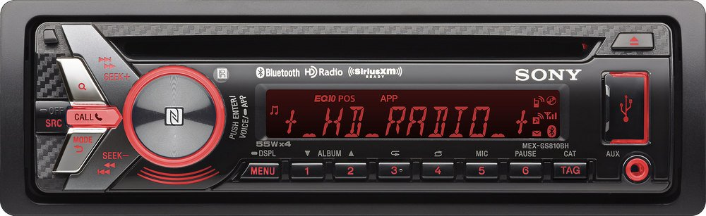 Sony GS Series MEXGS810BH CD HD Radio Receiver with Bluetooth, NFC and App Remote (Discontinued by Manufacturer)