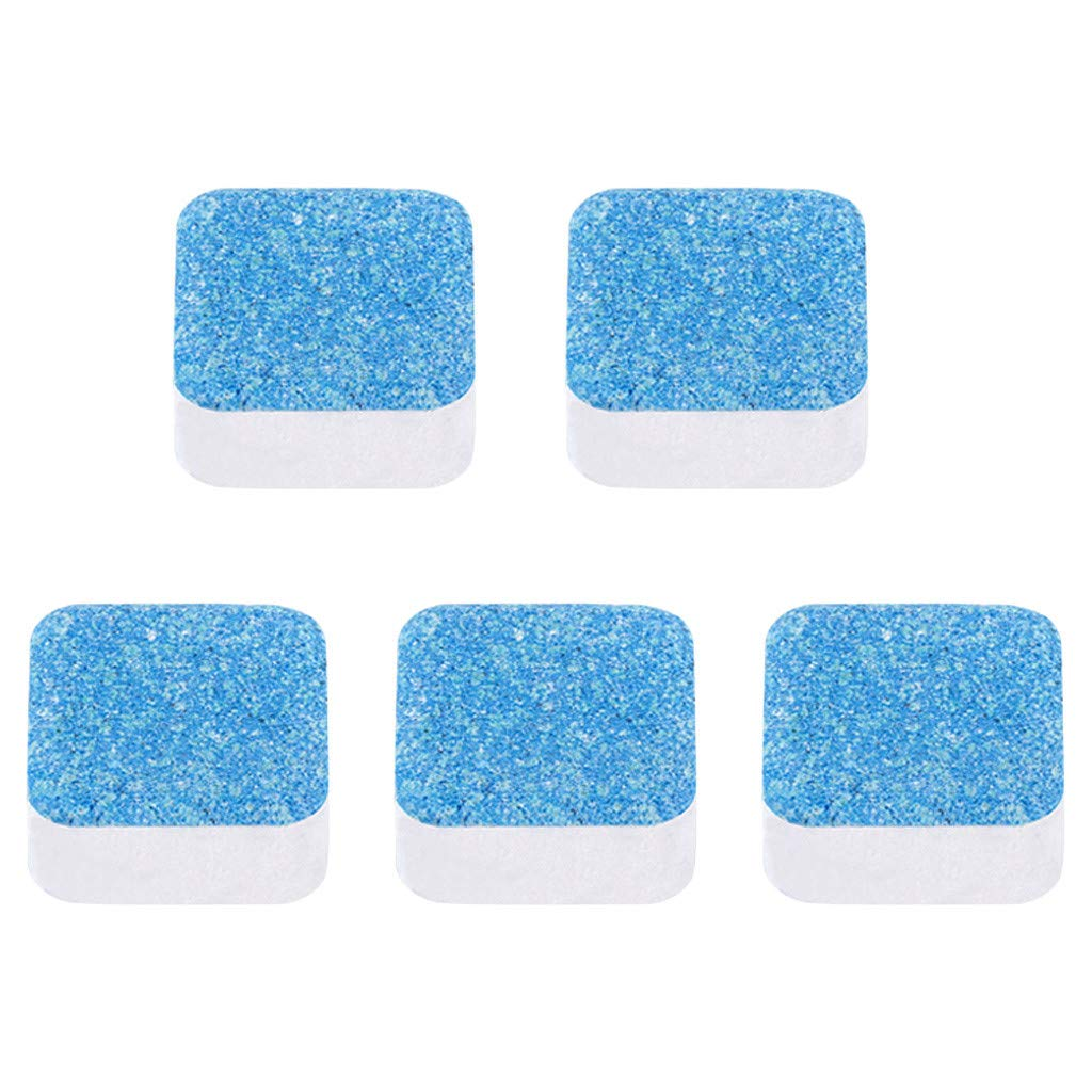 Cleaning Sheet,YRD TECH Washing Machine Cleaner Descaler Deep Cleaning Remover Deodorant Durable (A, 5PCS)