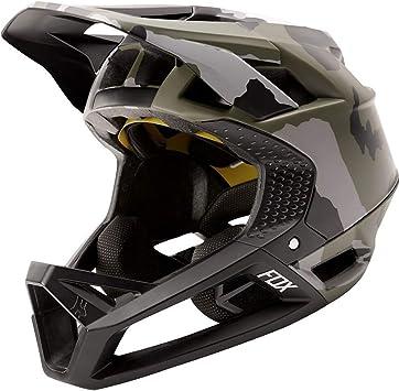 Fox Enduro Proframe - Casco para bicicleta de montaña, diseño de camuflaje, color verde, Spring 2020., color verde oliva, tamaño tamaño: Amazon.es: Deportes y aire libre