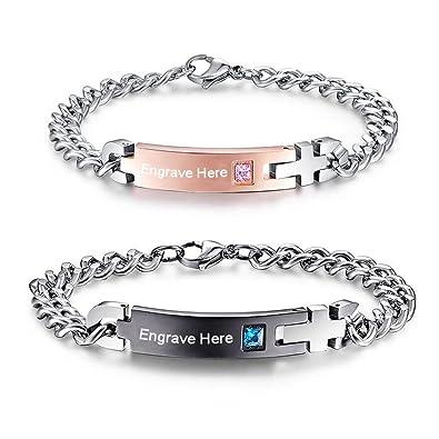 Amazon Com Lam Hub Fong Custom Mathching Bracelets Personalized
