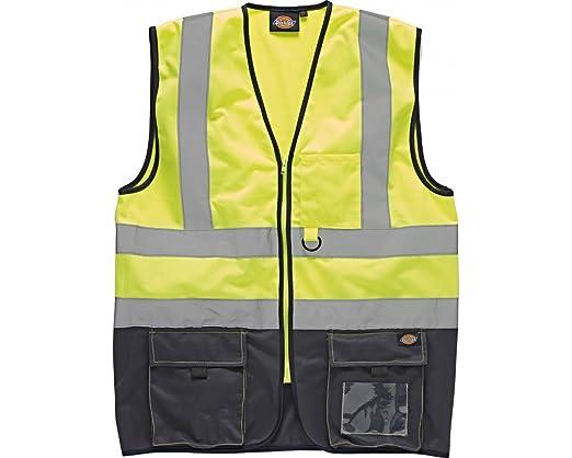 Dickies Herren Hi Vis 2 Tone Safety Weste