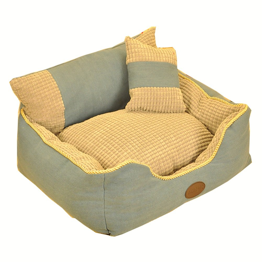 M-635022cm WX-WX Pet Supplies Cats and Dogs Pet Bed Room Sofa Style bluee With Cushions 5 Sizes Can Be Selected Multifunction (Size   M-63  50  22cm)