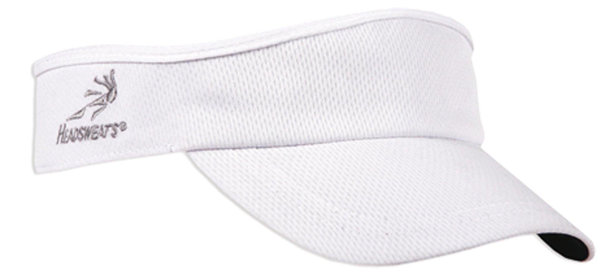 Headsweats Velocity Visor, White,One Size by Headsweats