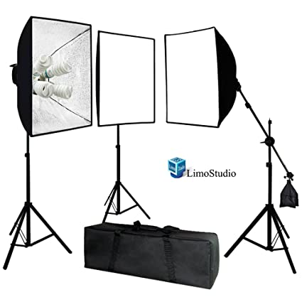 LimoStudio Photo Video Studio 2400 Watt Softbox Continuous Light Kit with Overhead Head Light Boom Kit  sc 1 st  Amazon.com & Amazon.com : LimoStudio Photo Video Studio 2400 Watt Softbox ...