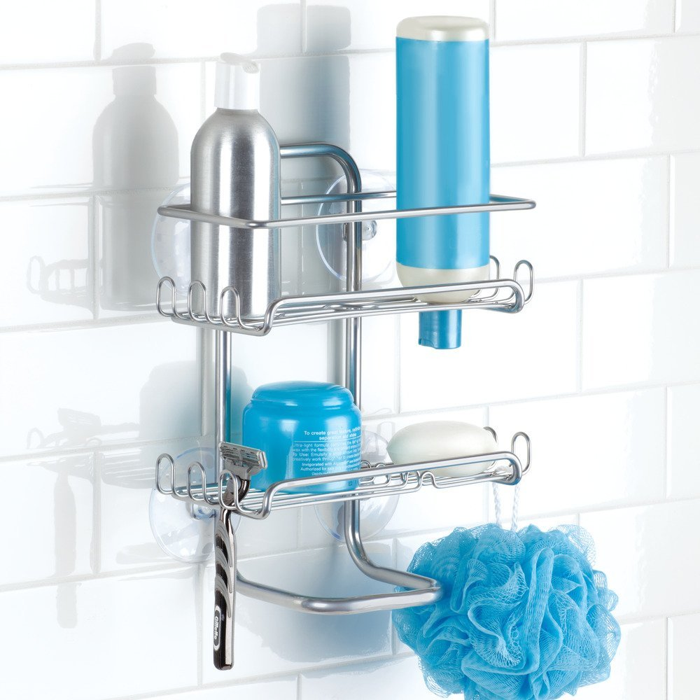 Amazon.com: InterDesign Classico Suction Bathroom Caddy – Shower ...
