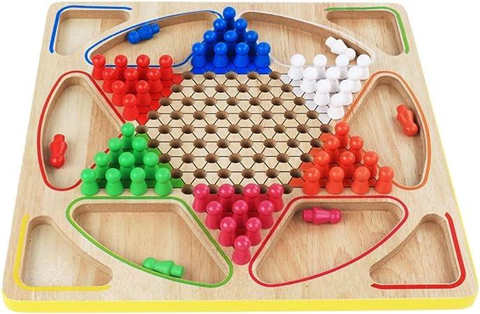 Vobajf Damas Chinas Multifuncional 2-en-1 Checkers Flying Backgammon Juego de Mesa Juguetes educativos Juegos de Mesa (Color : True Color, Size : Free Size): Amazon.es: Hogar