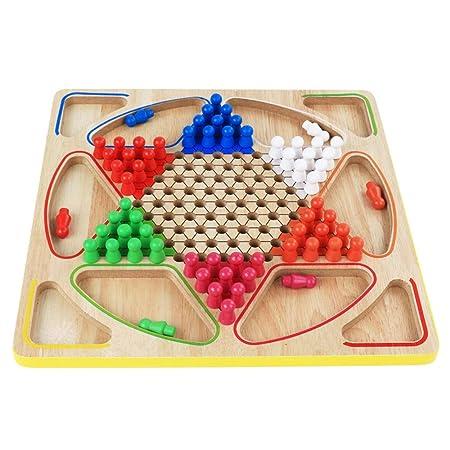 Sarahjers-Game Juegos de Mesa Madera multifunción 2-en-1 Checkers ...