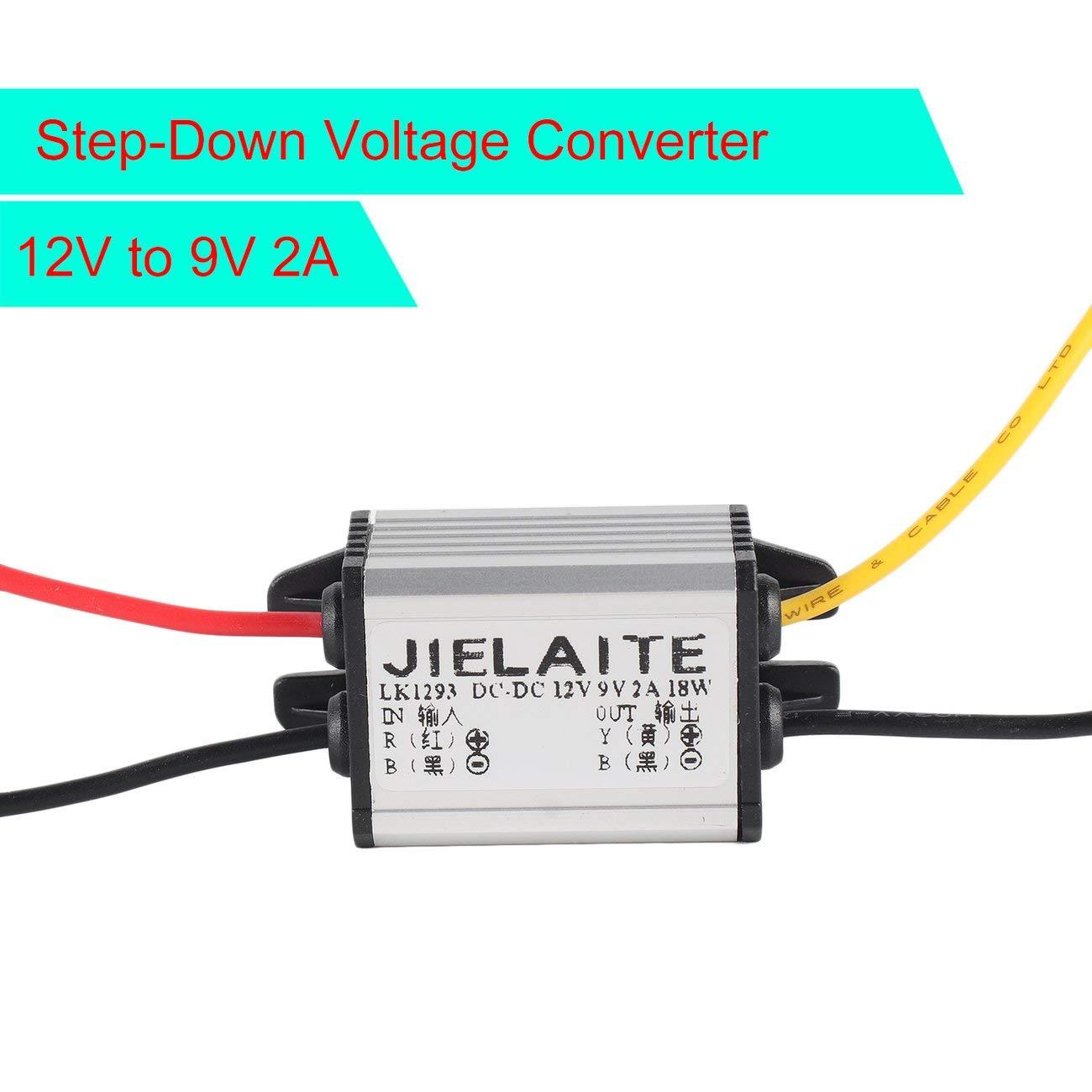 Elviray Convertisseur DC to DC /étanche 12V /à 3-9V 2A 3A Module dalimentation de Voiture Automatique Cordon de cuivre R/égulateur de Tension abaisseur