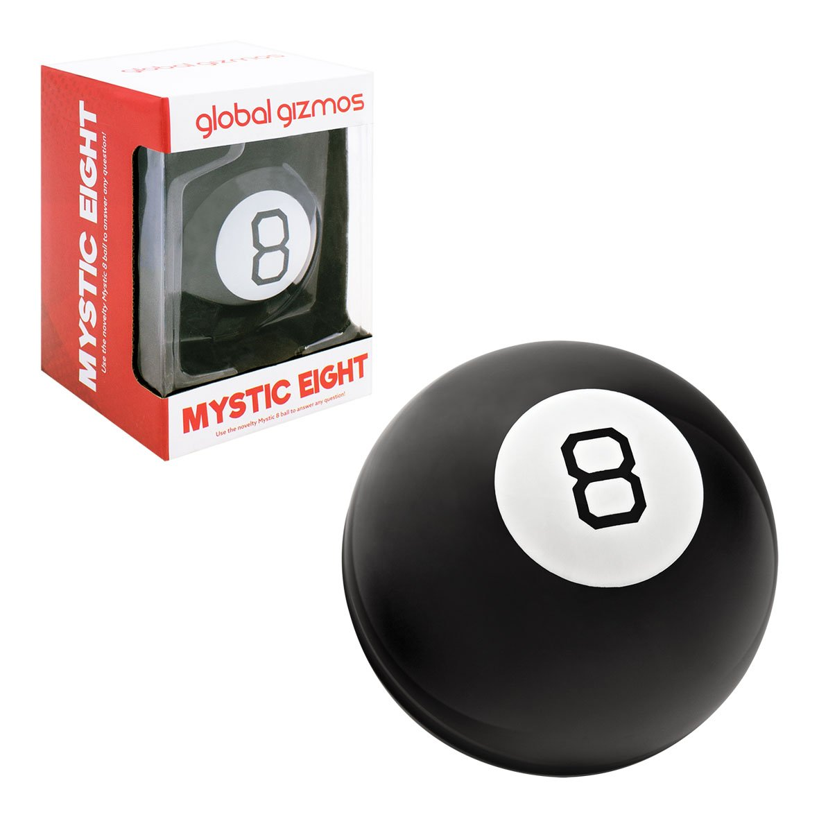 Global Gizmos 50970 Magic Eight 8 Ball / Kids, Adults, Family Fun / Home or Office / Question & Answer Game