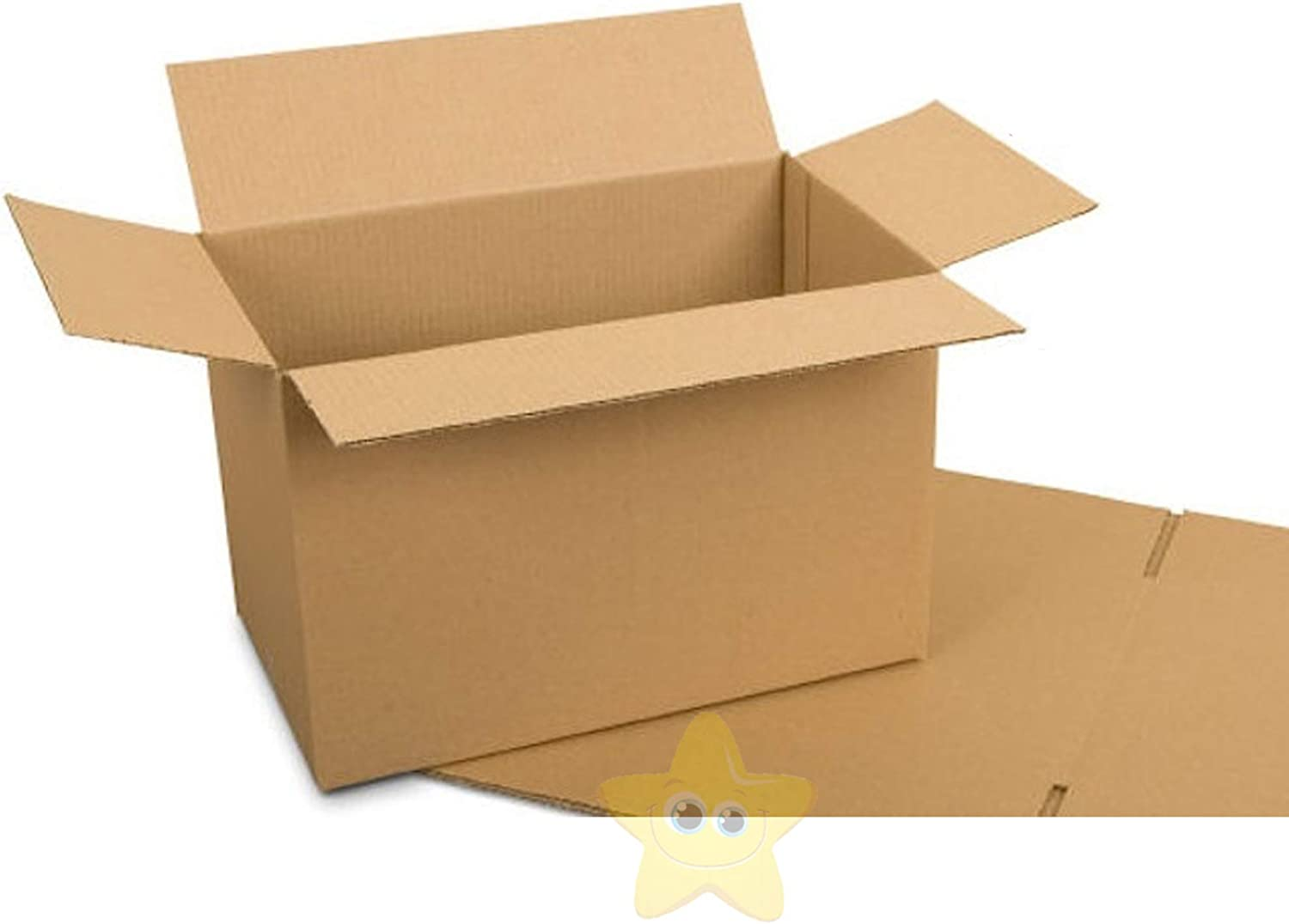 25 Pack Small Shipping Boxes Cardboard Corrugated Delivery Supplies Strong 8x6x4