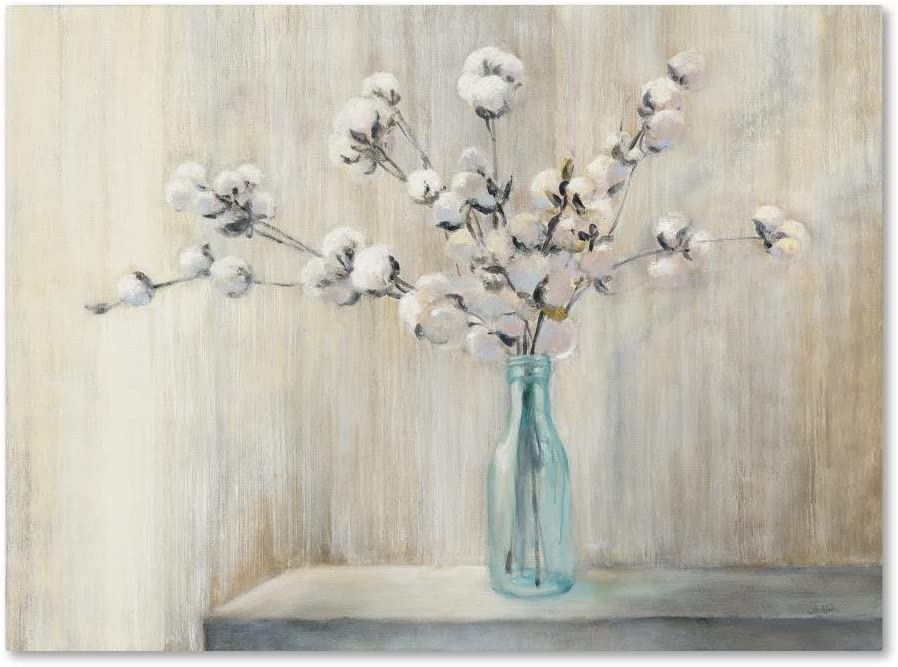 Cotton Bouquet by Julia Purinton, 24x32-Inch Canvas Wall Art