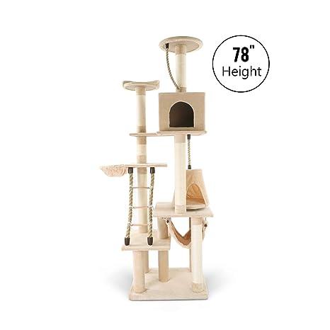 Amazon.com: LAZY BUDDY Torre de gato alta 78