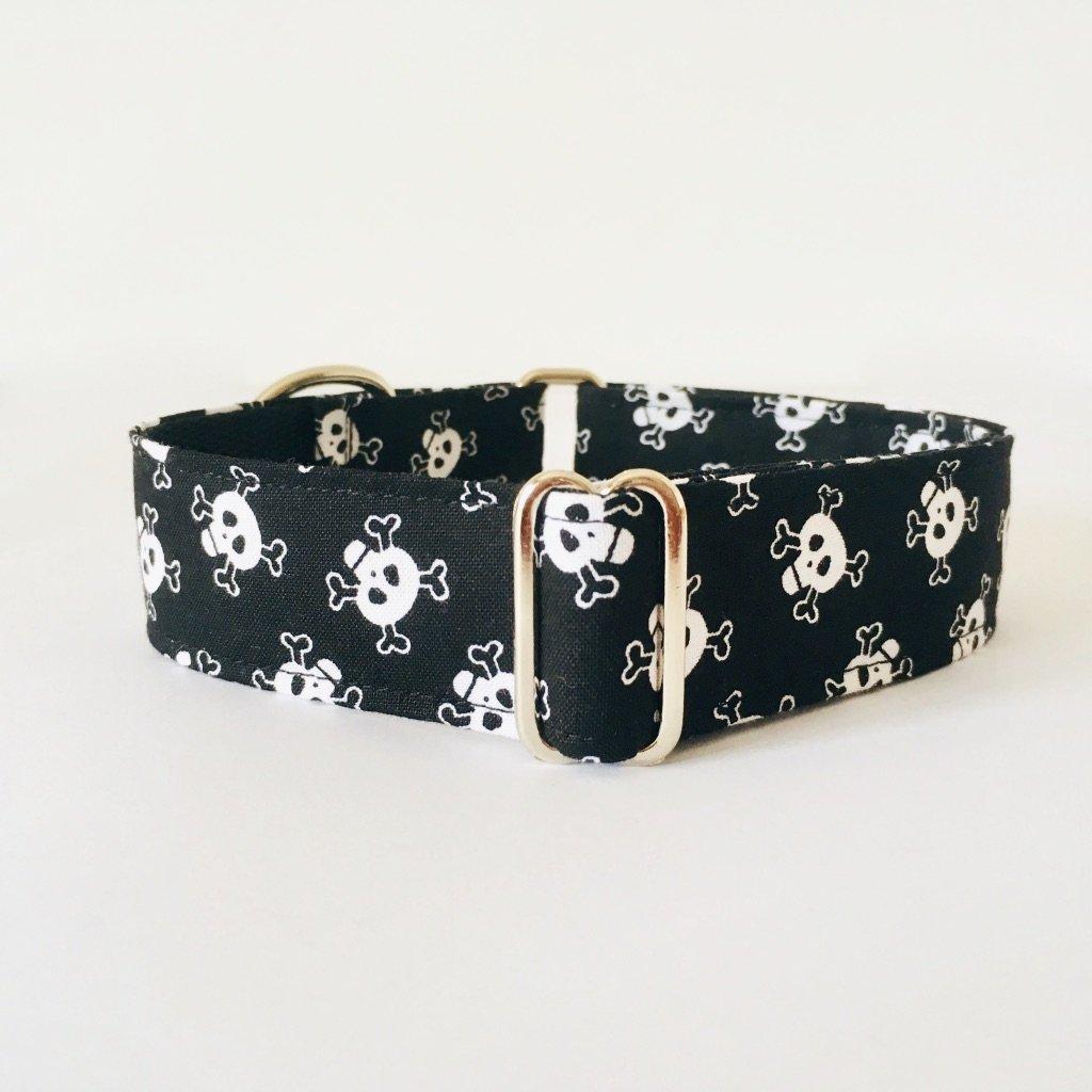 Collar Perro Martingale Modelo Calaveras Crossbones