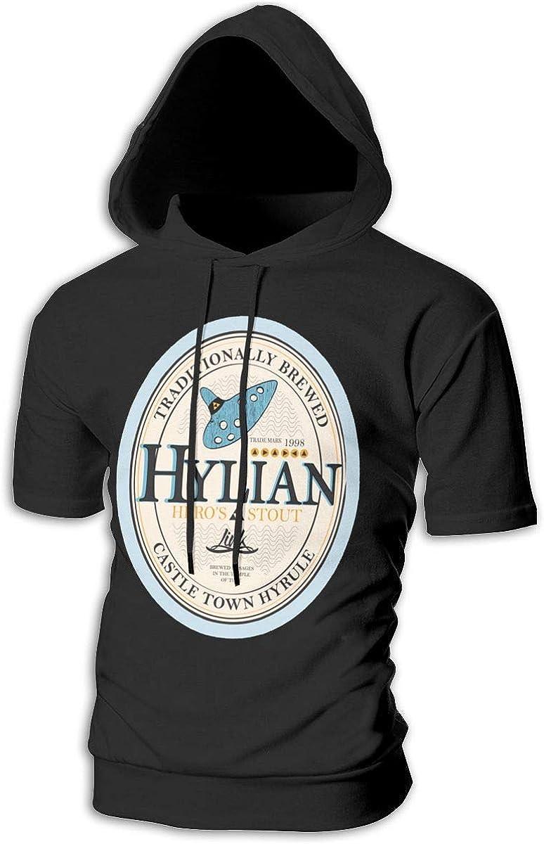 VIKIY K Hylian Heros Stout Summer Fashion Mens Short Sleeve Hoodies