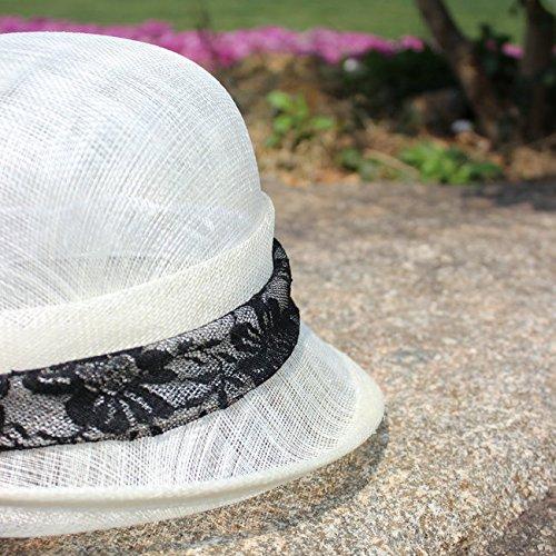 Del El Lady Accesorios Lino Blanco Retro Summer Topper Para Sombrero Cabello Banquete Bombín Mazy De Philippine x611q8