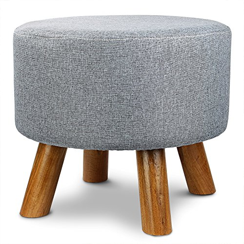 1easylife-furnishings-round-upholstered-ottoman-padded-foot-stool-with-4-beech-legs-and-removable-li