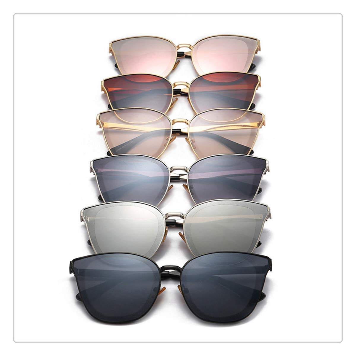 Elven Street New Classic Large Frame Anti-UV Diamond Sunglasses UV400 Fashion UV Protection for Women and Men(Combination)