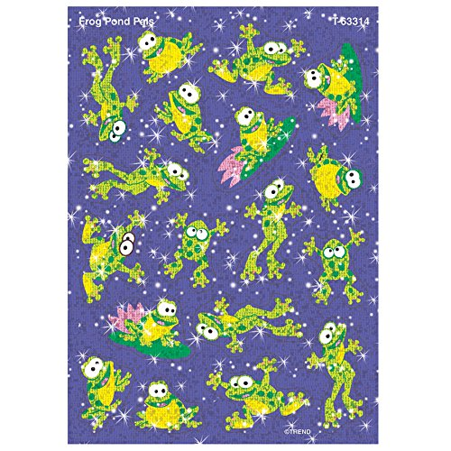 TREND enterprises, Inc. Frog Pond Pals Sparkle Stickers-Large, 36 ct -