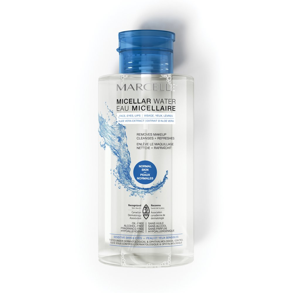 Marcelle Micellar Water - Normal Skin, Hypoallergenic and Fragrance-Free, 13.5 fl oz