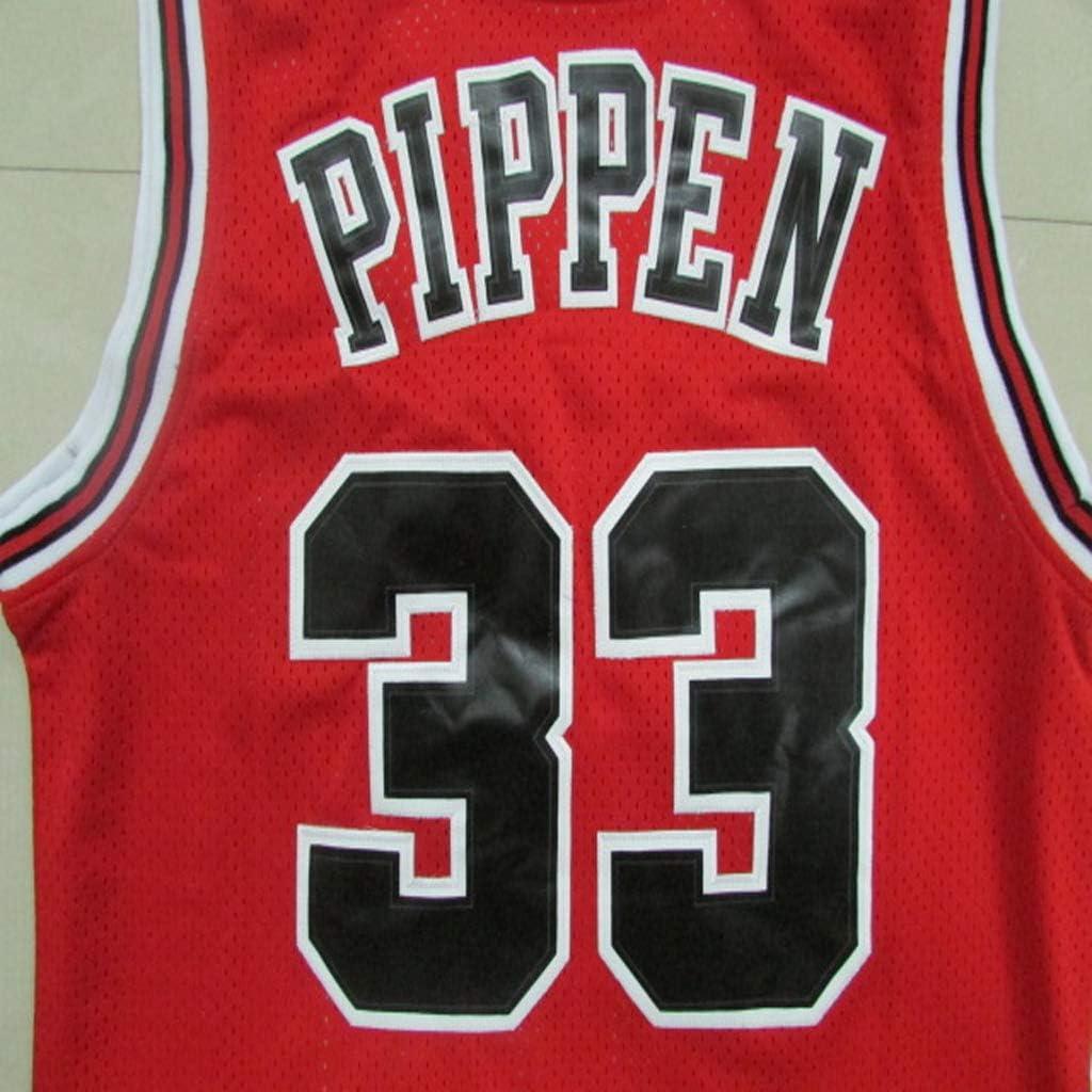 Basketball Jersey # 33 Scottie Pippen Chicago Bulls Mens Sports Shirts Basketball Swingman Jersey Sportswear 100/% Polyester Breathable Mesh Fabric