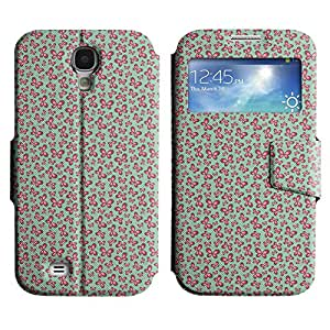 Be-Star Diseño Impreso Colorido Slim Casa Carcasa Funda Case PU Cuero - Stand Function para Samsung Galaxy S4 IV / i9500 / i9505 / i9505G / SGH-i337 ( Pink Butterfly )