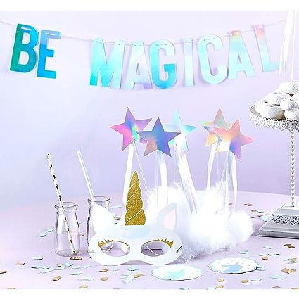 Amazon.com: ELEGANI Kit de fiesta de unicornio 49 piezas ...