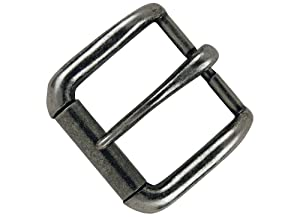 """Tandy Leather Napa Buckle 1-1/2"""" (38 mm) Antique Nickel Plate 1643-21"""