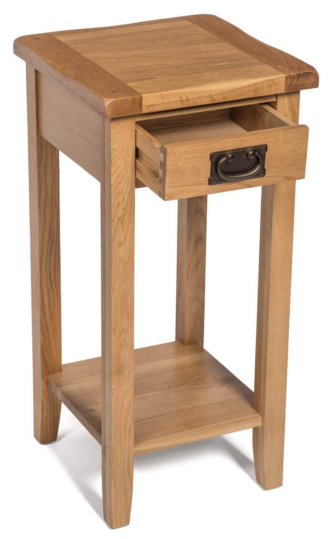 Table de Chevet//Console//Support de t/él/éphone//Lampe avec /étag/ère AD31B ch/êne Clair, Hallowood Monchique Table dappoint pour Plantes 1 tiroir Compacte//Petite//Haute