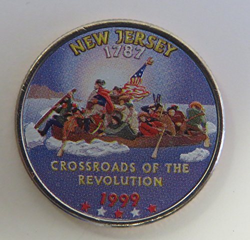 1999 Various Mint Marks New Jersey State Colorized Quarter Choice Uncirculated (1999 Delaware State Quarter)