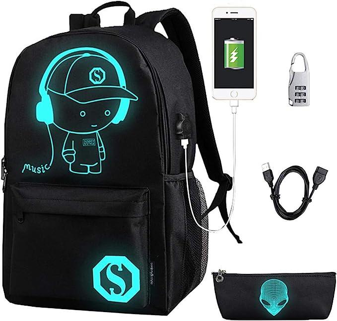 Anime Bookbag Casual Backpack School Bag Gym Travel Hiking Canvas Backpack Laptop Computer Bag