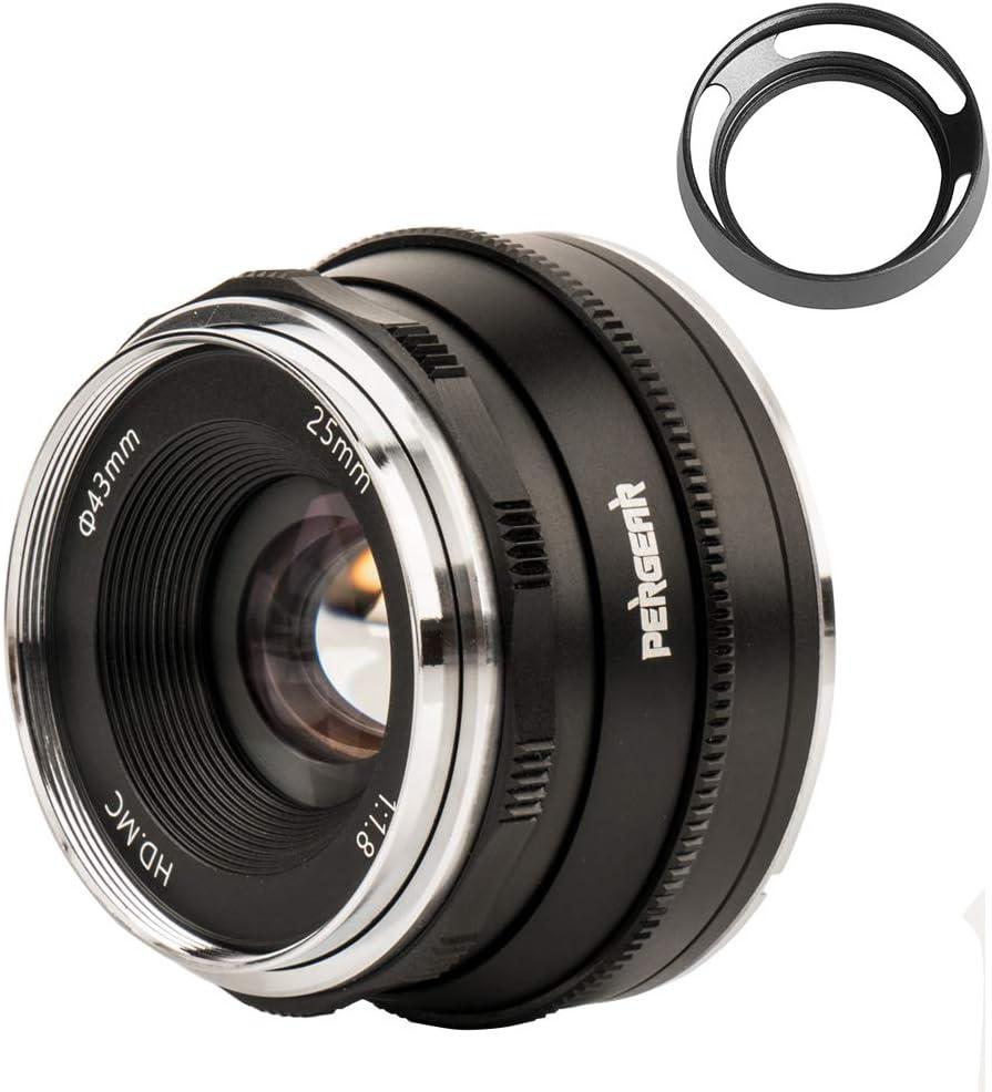 Pergear 25mm F1 8 Objektiv Für Fujifilm X Mount X A1 Kamera